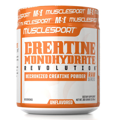 Musclesport Creatine Monohydrate Unflavored Supplement Raw Series