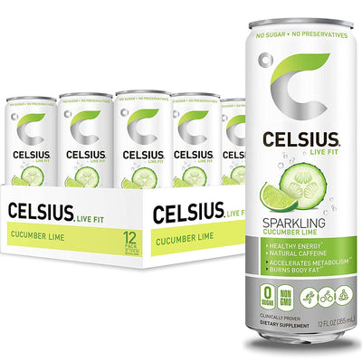 Celsius Original Energy Drink Sparkling Cucumber Lime