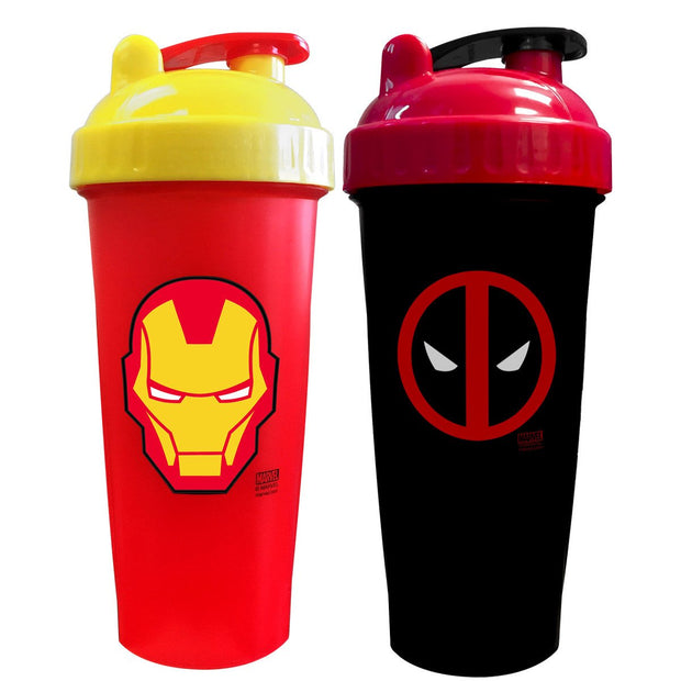 Iron Man and Deadpool Shaker Cups