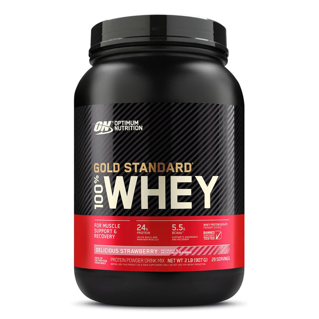 ON Optimum Nutrition Gold Standard 100% Whey Protein Powder Supplement Delicious Strawberry