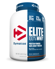 Dymatize Elite 100% Whey 5lbs Rich Chocolate