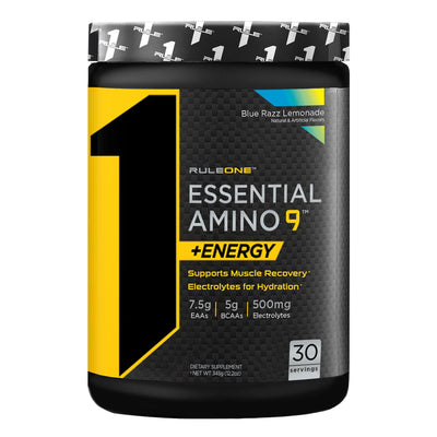 Rule One R1 Essential Amino 9 plus Energy Blue Razz Lemonade