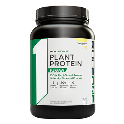 Rule One R1 Plant Protein Vegan Powder Supplement Frozen Banana