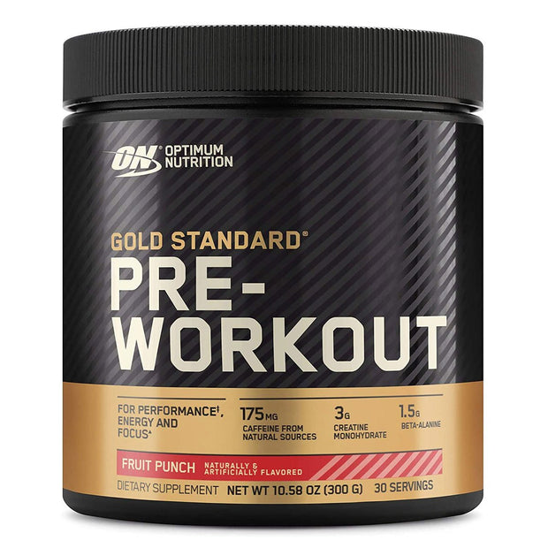 ON Optimum Nutrition Gold Standard Pre Workout Powder Supplement Fruit Punch