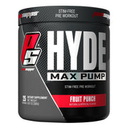 Pro Supps HYDE Max Pump Stimulant Free Pre Workout Powder Supplement Fruit Punch