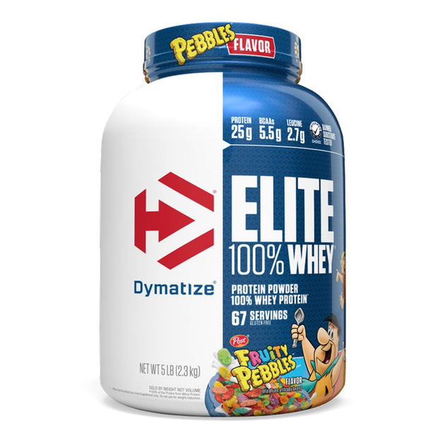 Dymatize Elite 100% Whey Protein Powder Supplement Fruity Pebbles Cereal