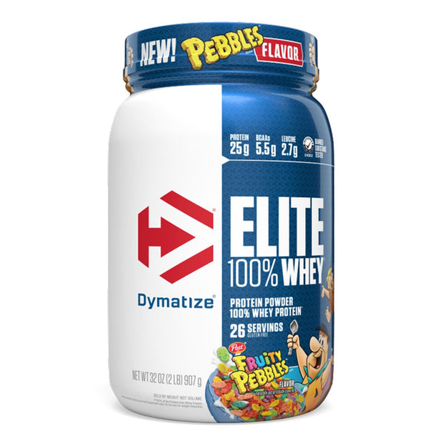 Dymatize Elite 100% Whey Protein Powder Supplement  Post Fruity Pebbles Cereal Flavor