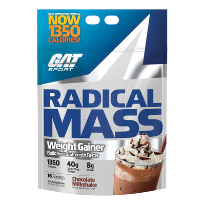 GAT Sport Radical Mass Weight Gainer Protein Chocolate Milkshake