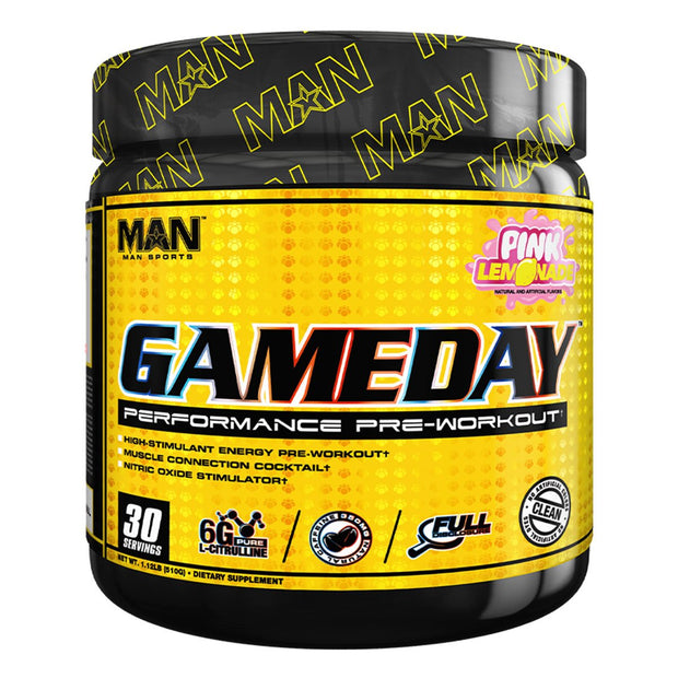 MAN Sports GameDay Pre Workout Pink Lemonade