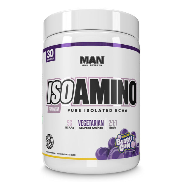 MAN Sports ISO Amino BCAA Supplement Grape Bubble Gum