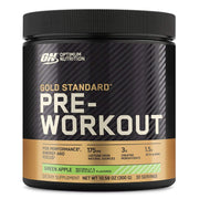 ON Optimum Nutrition Gold Standard Pre Workout Powder Supplement Green Apple