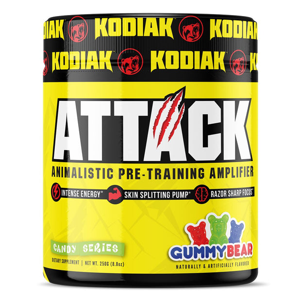 Kodiak Supplements Attack Pre Workout Gummy Bear