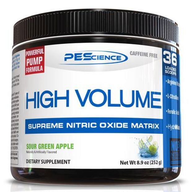 PEScience High Volume Stimulant Free Pump Pre Workout Sour Green Apple