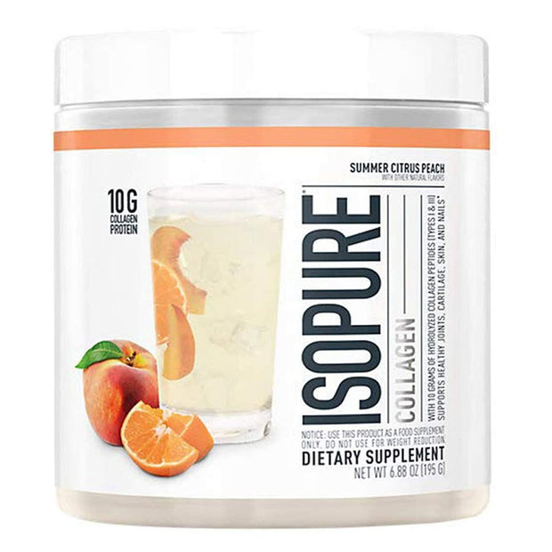 ISOPURE Collagen Peptide Protein Supplement Summer Citrus Peach