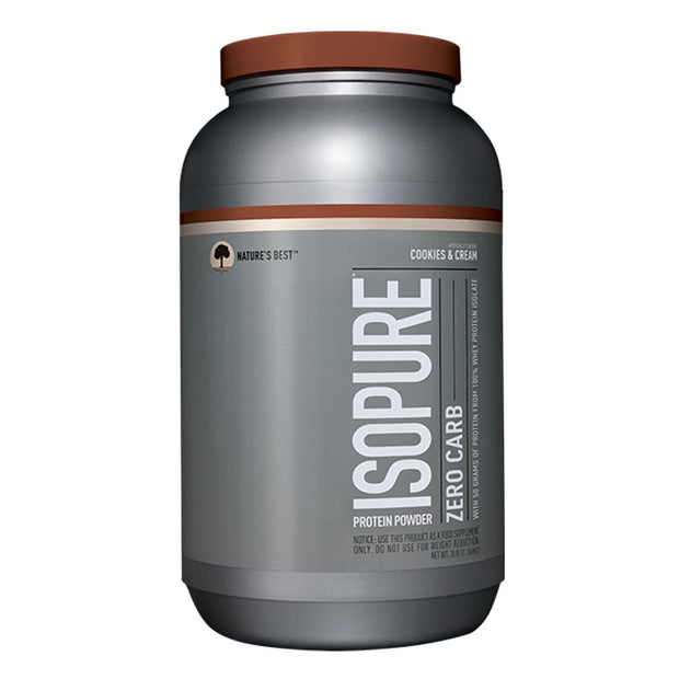 ISOPURE Zero Carb Whey Protein Cookies and Cream