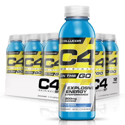 Cellucor C4 Energy C4 Original On the Go Bottle Icy Blue Razz