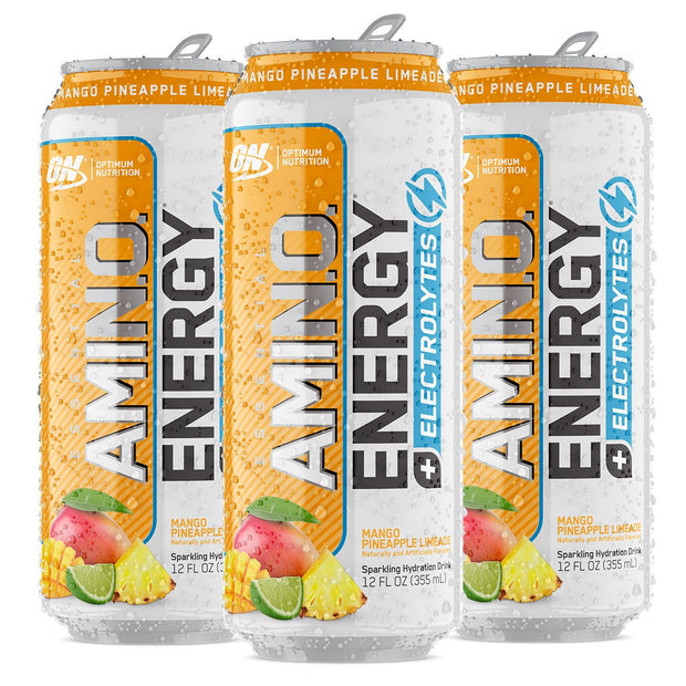 Optimum Nutrition Amino Energy Sparkling Carbonated Mango Pineapple Limeade