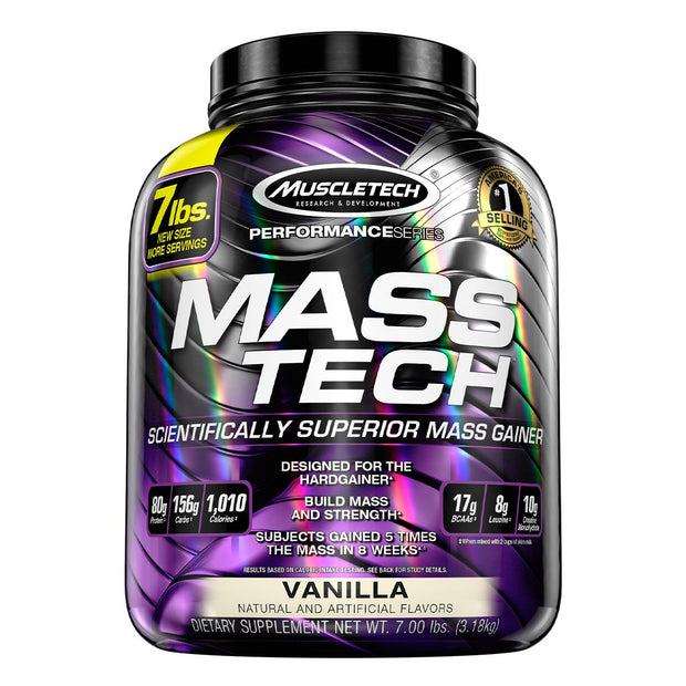 Muscletech Mass Tech Mass Gainer Protein Vanilla