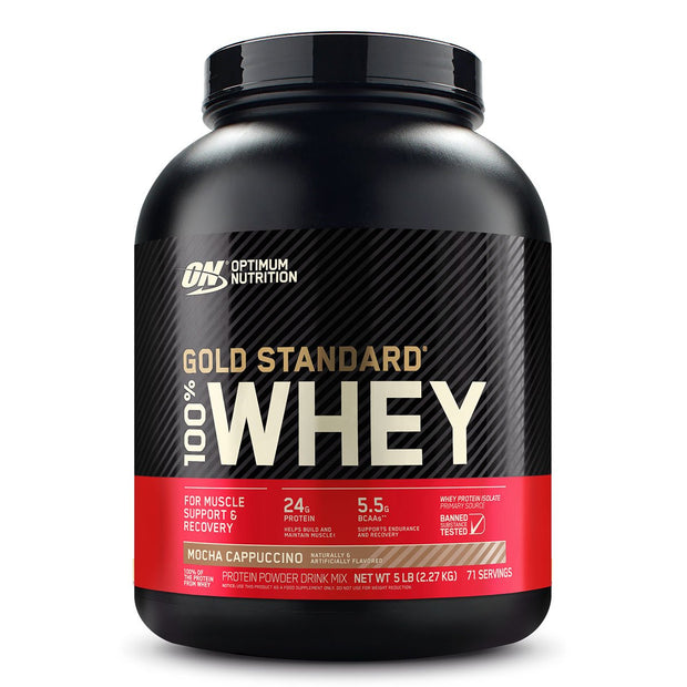ON Optimum Nutrition Gold Standard 100% Whey Protein Powder Supplement Mocha Cappuccino