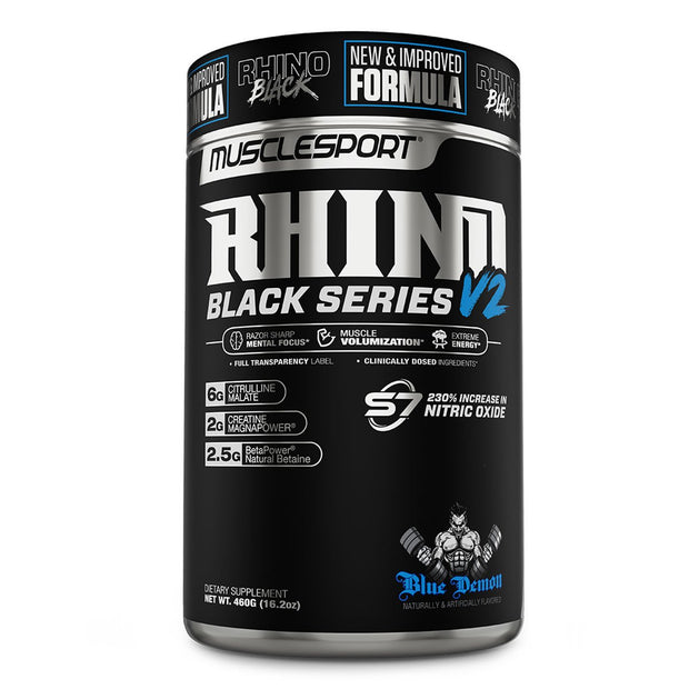 Musclesport Rhino Black Series Pre Workout Blue Demon Monster