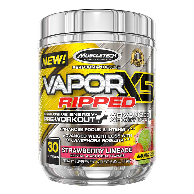 Muscletech Vapor X5 Ripped Pre Workout Strawberry Limeade