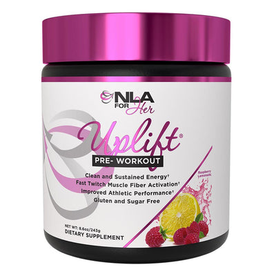 NLA for Her Uplift Pre Workout Female Supplement Raspberry Lemonade