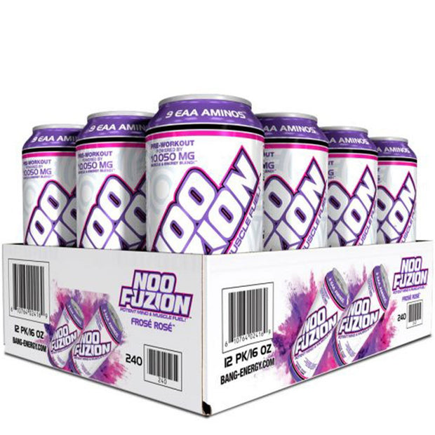 NOO FUZION Energy Drink by the Makers of BANG Frose Rose