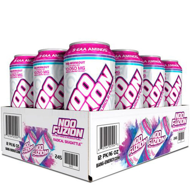 NOO FUZION Energy Drink by the Makers of BANG Radical Skidattle