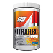 GAT Nitraflex Burn Fat Loss Pre Workout Blue Raspberry