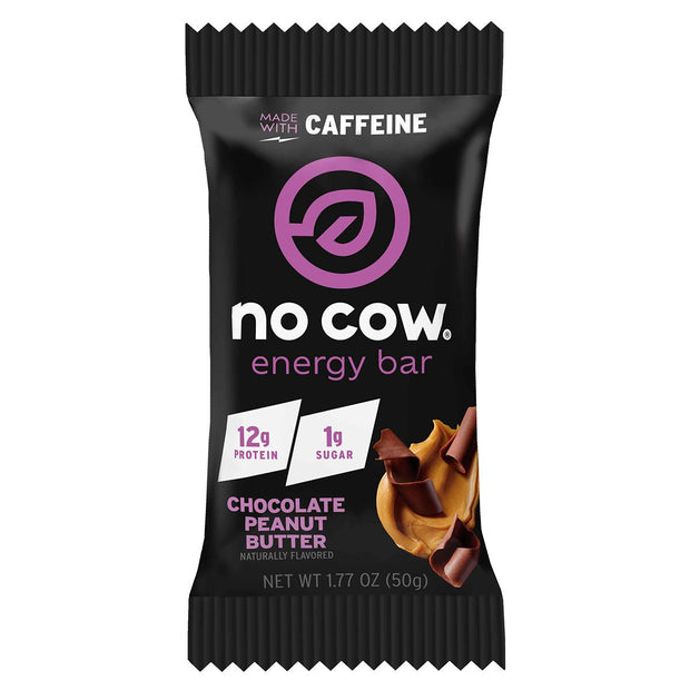 No Cow Energy Protein Bar Chocolate Peanut Butter
