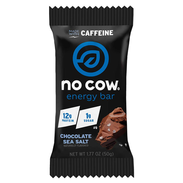 No Cow Energy Protein Bar Chocolate Sea Salt
