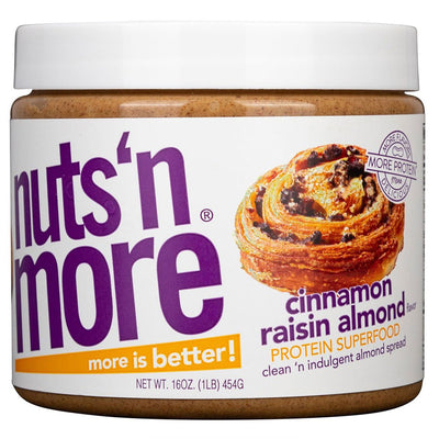 Nuts N More Cinnamon Raisin Almond Butter Spread