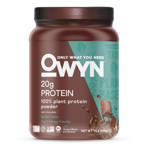 OWYN- Only What You Need Plant Based Protein Powder Dark Chocolate