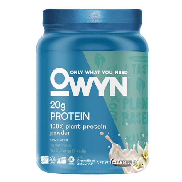 OWYN- Only What You Need Plant Based Protein Powder Smooth Vanilla