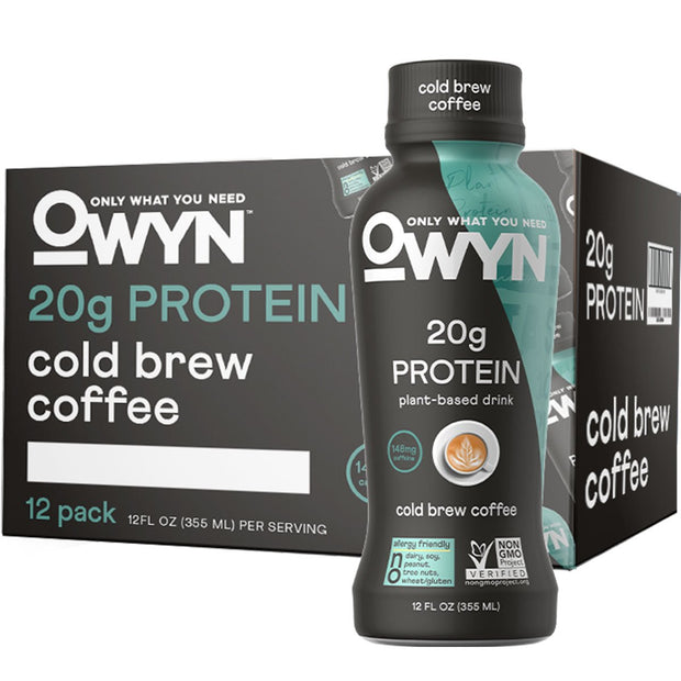 OWYN: Only What You Need Plant Based Protein Drink Cold Brew Coffee
