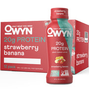 OWYN: Only What You Need Plant Based Protein Drink Strawberry Banana