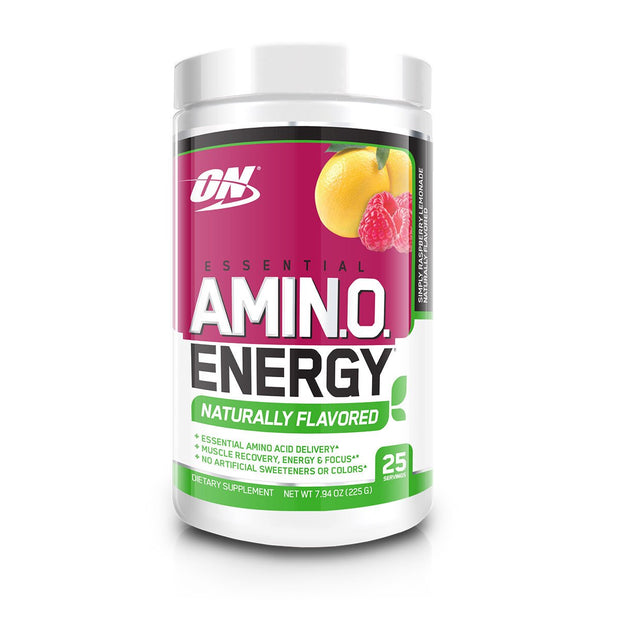Optimum Nutrition Amino Energy Naturally Flavored Raspberry Ice Tea