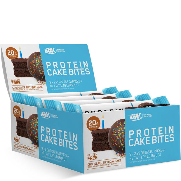 Optimum Nutrition Protein Cake Bites Chocolate Birthday Cake