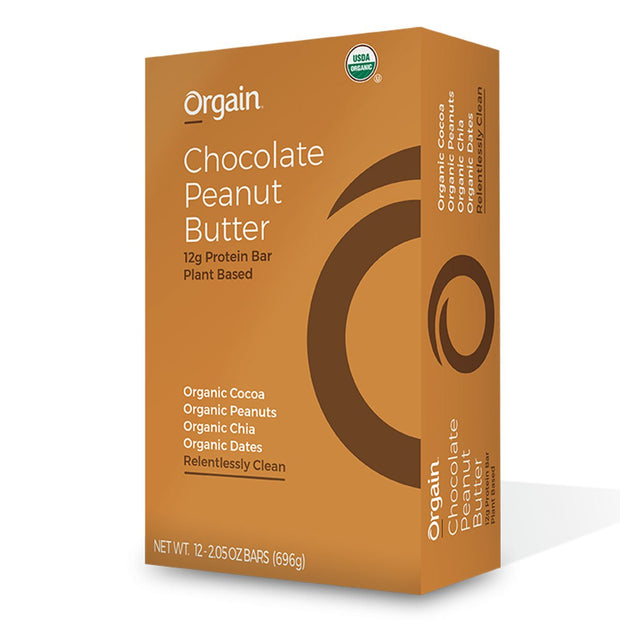 Orgain Organic Protein Bar Vegan Chocolate Peanut Butter