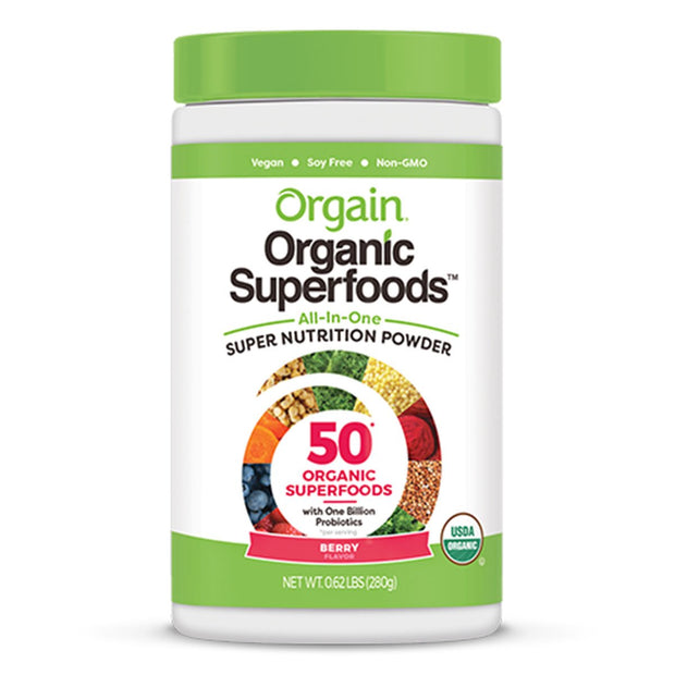Orgain Organic Superfoods Powder Supplement Berry