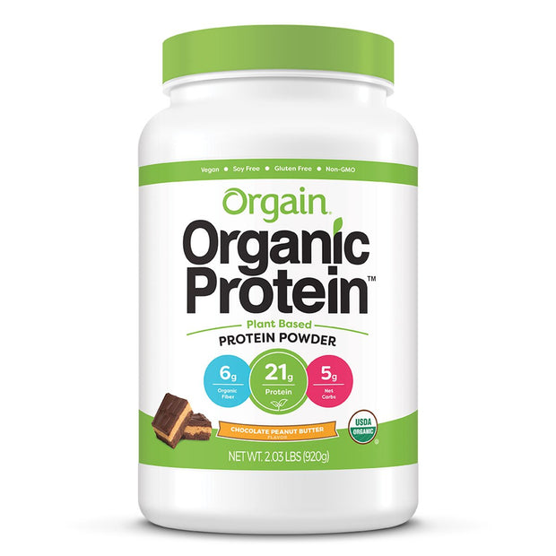 Orgain Organic Protein Plant Based Vegan Chocolate Peanut Butter
