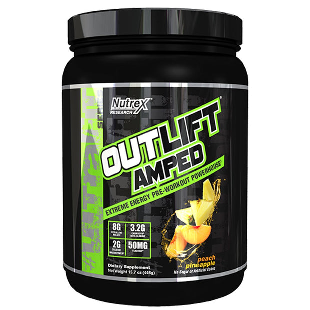Nutrex Outlift Amped Pre Workout Peach Pineapple