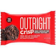 Outright Crisp Double Chocolate Chip Peanut Butter Protein Bar Tiger Fitness