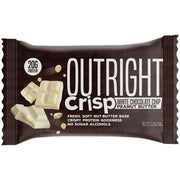 Outright Crisp White Chocolate Chip Peanut Butter Protein Bar Healthy Snack Tiger