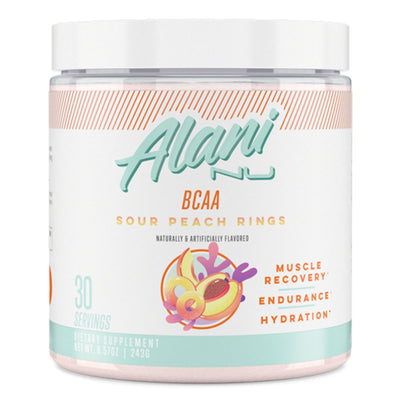 Alani Nu BCAA Amino Acid Supplement l For Women l Best Deal l Sour Peach Rings