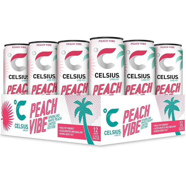 CELSIUS Original Energy Drink Peach Vibe Flavor