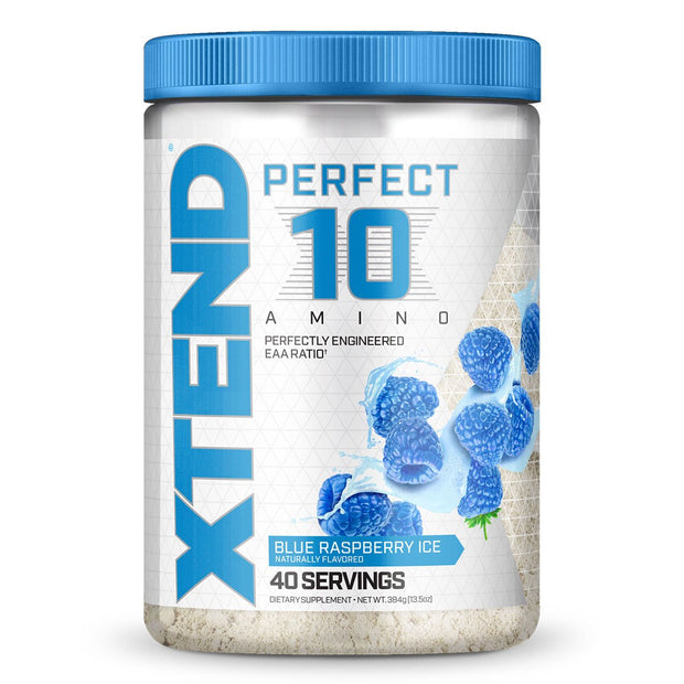 Scivation Xtend Perfect 10 Amino Acid EAA Supplement Blue Raspberry Ice