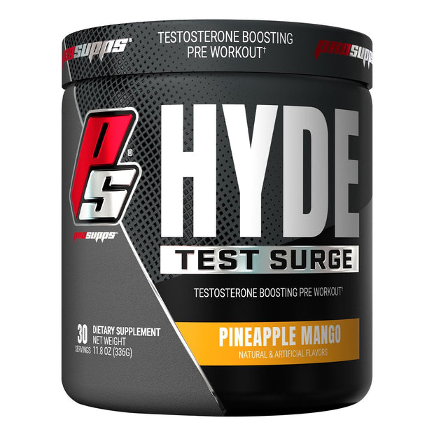 Pro Supps HYDE Test Surge Pre Workout Powder Supplement Pineapple Mango
