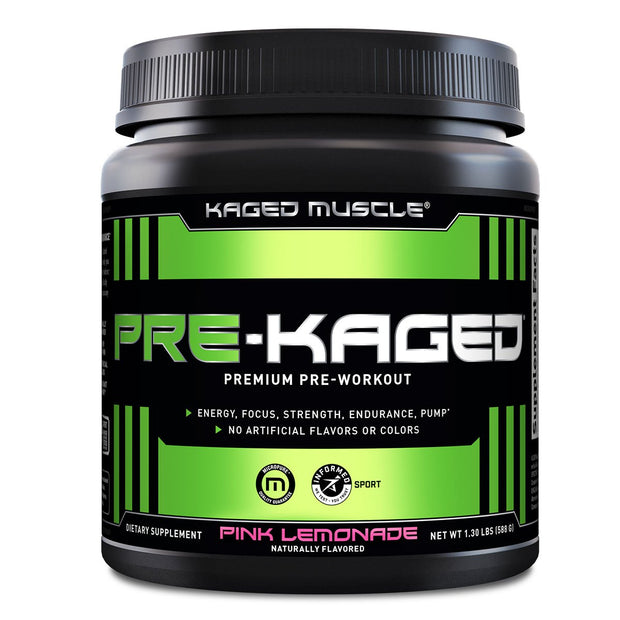 Kaged Muscle Pre Kaged Pre Workout Supplement Pink Lemonade