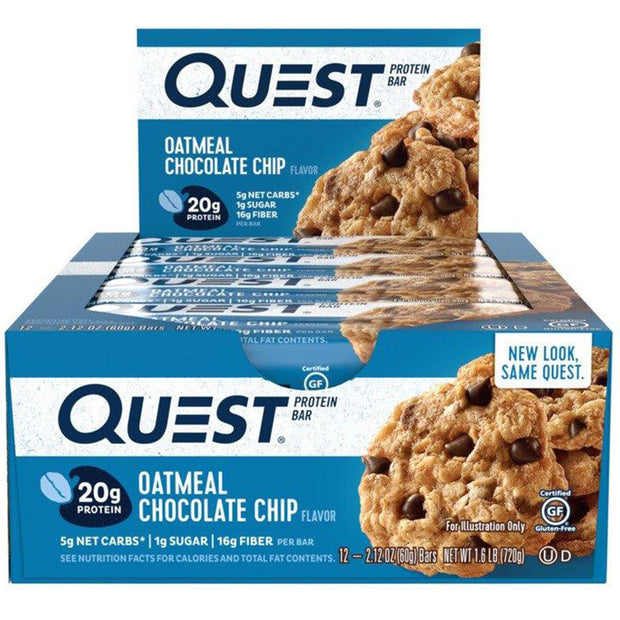 Quest Bars Oatmeal Chocolate Chip